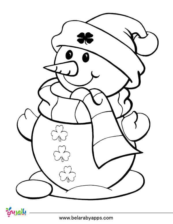 رسومات للتلوين عن فصل الشتاء اوراق للطباعة 2020 بالعربي نتعلم Snowman Coloring Pages Christmas Coloring Sheets Christmas Coloring Pages