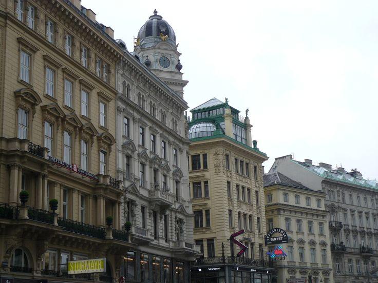 Statige gebouwen centrum Wenen
