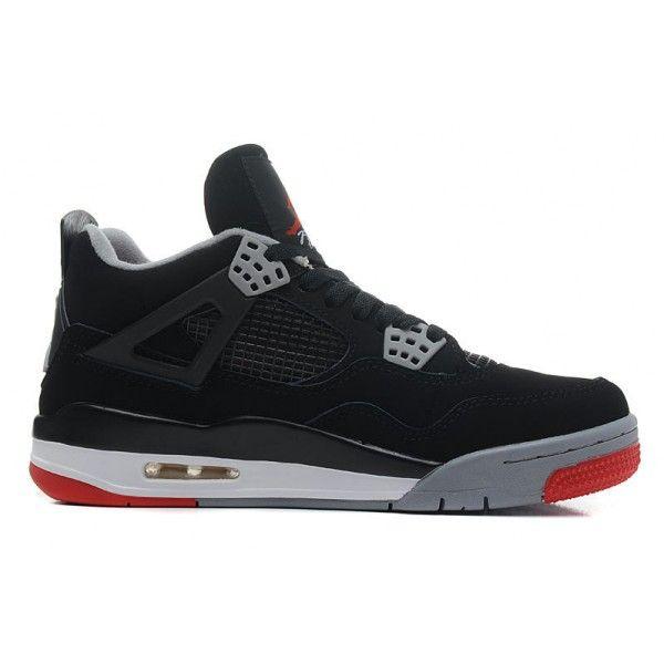 f42c698a2264 ... air jordan 4 mens retro black cement grey fire red bred for sale ...