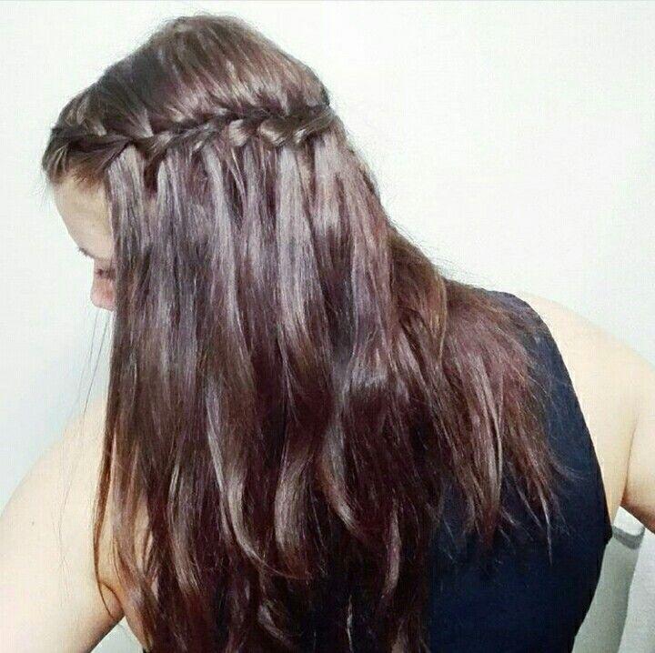 #waterfallbraid #brownhair #longhair #hairstyle