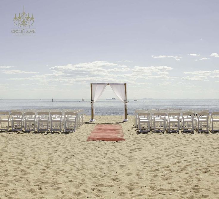 Brighton Beach Wedding Ceremony Circleofloveweddingsau
