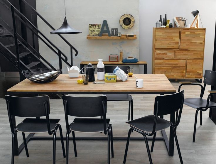 Le style industriel à la loupe. Un mobilier récup', chic et vintage.