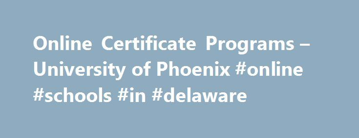 Certificate Programs Online: Accounting Certificate Programs Online