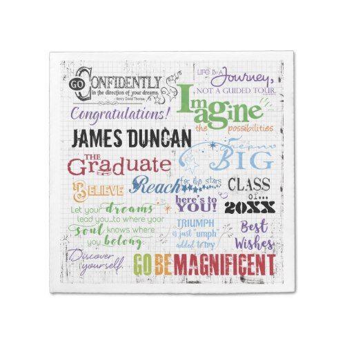 Personalized Graduation Word Art Napkin