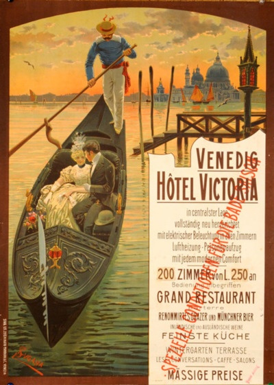 Venedig Hotel VictoriaVintage Italian, Vintage Posters, Picture-Black Posters, Travel Photos, Italy Vintage, Travel Tips, Venice Italy, Vintage Travel Posters, Italian Posters