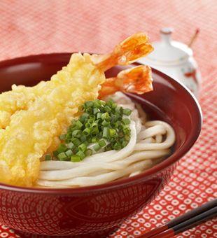 えび天うどん。Shrimp Udon.