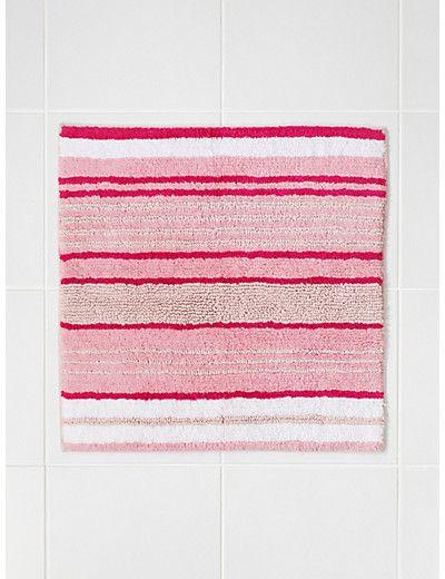 Pure Cotton Spa Striped Shower Mat Home