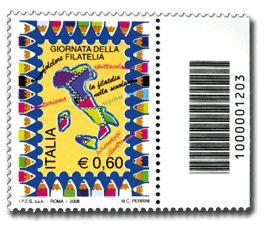 Il primo francobollo con il codice barre 2008