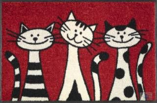 Katzenfußmatte mit drei lustigen Katzen! So goldig...