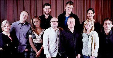 New kids on the block: (from left to right) Andrea Gibb, Saul Dibb, Amma Asante, Daniel Mays, Dominic Savage, Alwin Kuchler, Mark Herbert, A...  Richard Armitage