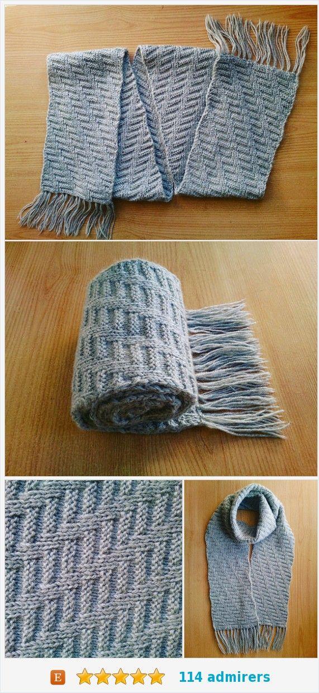Mens knit scarf Mens wool scarf Mens infinity scarf Grey wool scarf for men Grey winter scarf Mens winter scarf Gray Mens reversible scarf https://www.etsy.com/KnittedDecor/listing/551188274/mens-knit-scarf-mens-wool-scarf-mens?ref=shop_home_active_14