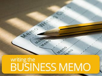 Beyond Tweeting: Writing the Business Memo