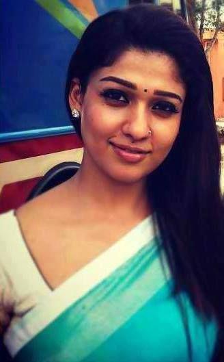 Nayan in cute saree