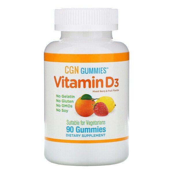 California Gold Nutrition Vitamin D3 Gummies No Gelatin No Gluten Mixed Berry Fruit Flavors 25 Mcg 1 000 Iu 90 Gummies Fruit Flavored Berry Fruit Vitamins