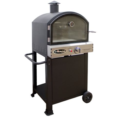 Outdoor Pizza Oven by AZ Patio Enjoy the convenience of making pizza in your own backyard with this propane oven. This unit comes with tow cooking areas, including the pizza stone itself. With the ful                                                                                                                                                                                 More