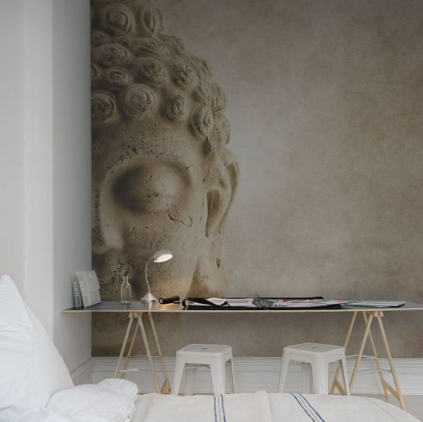 Hey, look at this wallpaper from Rebel Walls, Buddha! #rebelwalls #wallpaper #wallmurals