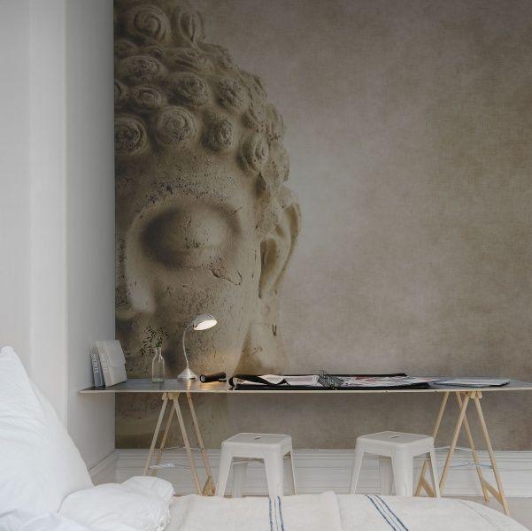 A favorite wallpaper from Rebel Walls, Buddha! #rebelwalls #wallpaper #wallmurals