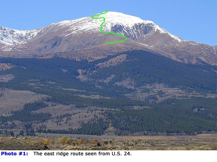 Mt. Ebert - highest point in the rockies. Near Leadville
