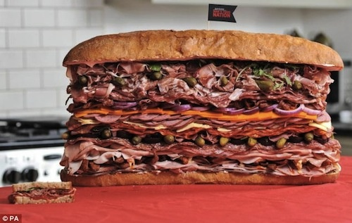 Carnivore's Dream: 28-lb. Sandwich Made with 41 Different Kinds of Meat