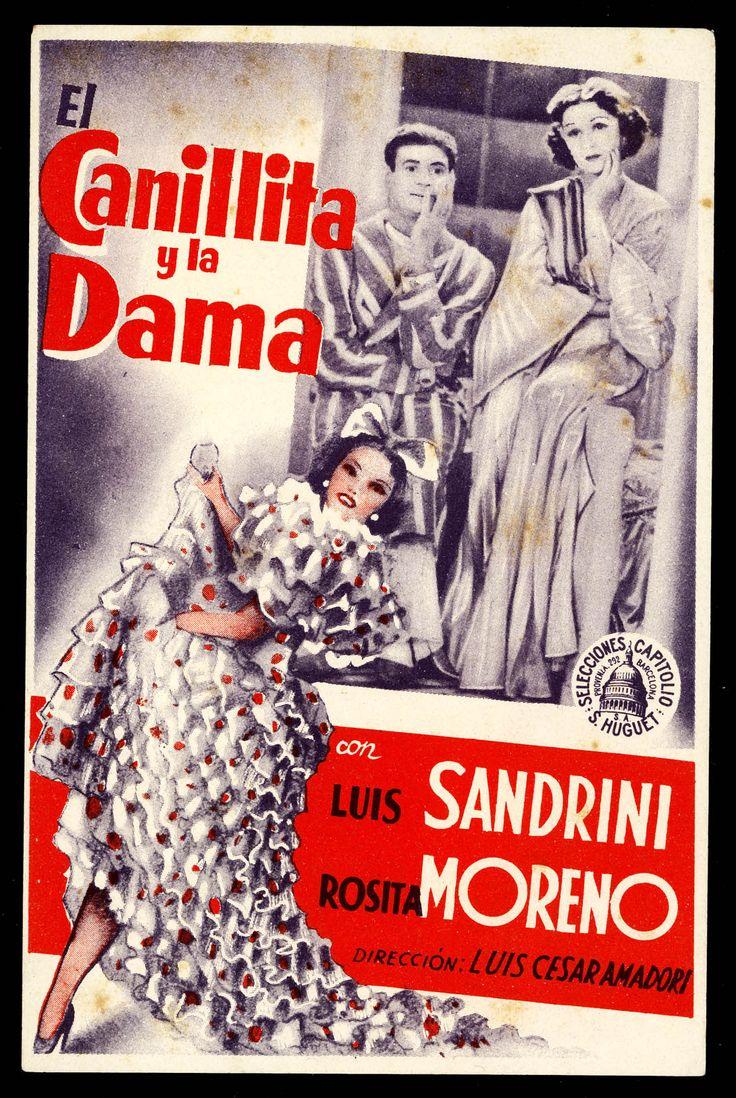 """Programa de mano de cine de la película """"El Canillita y la Dama"""", estrenada en España en el año 1935"""