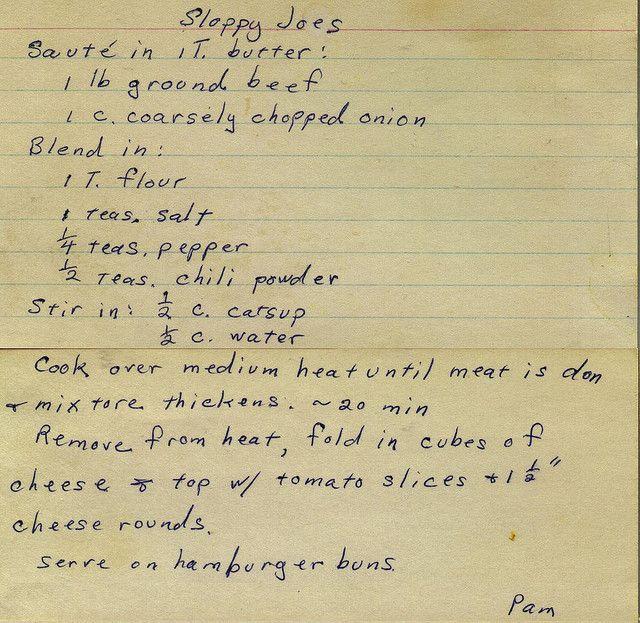 Sloppy Joes | Flickr - Photo Sharing!
