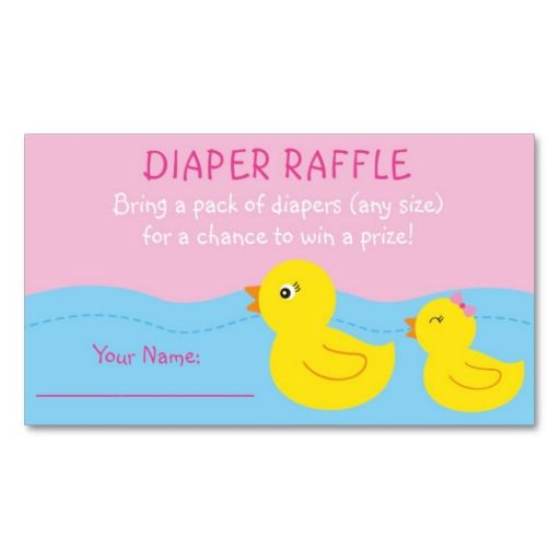 40 best Baby Shower Diaper Raffle Tickets images on Pinterest - free raffle templates