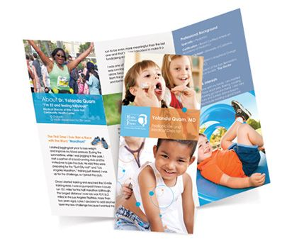 A medical brochure for a children's hospital.