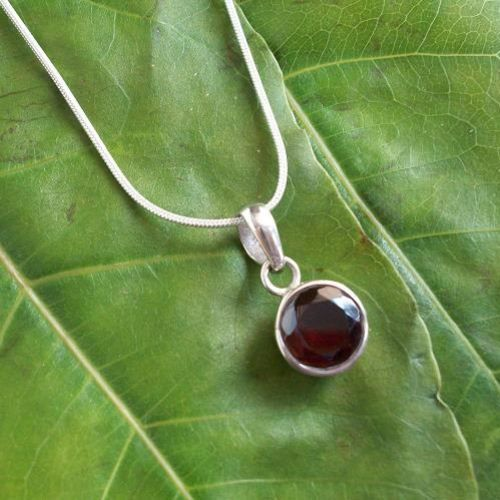 Buy Sterling silver Garnet pendant chain, Red pendant, January birthstone by aStudio1980 Online at aStudio1980.com. 100% handcrafted and original.