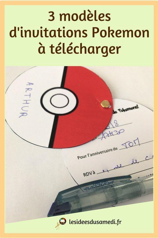 Comment faire des invitations Pokemon pour un anniversaire ? 5 modèles à découvrir ...