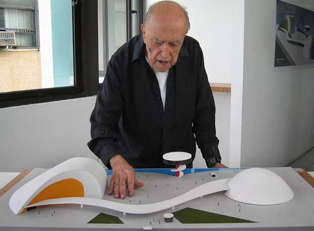 Oscar Niemeyer -  (born December 15, 1907) is a Brazilian architect specializing in international modern architecture. His buildings are often characterized by being spacious and exposed, mixing volumes and empty space to create unconventional patterns and often propped up by piloti. His work with concrete is described as elegant and harmonious.
