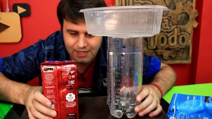 Balanza de agua casera con botellas y con grandes mejoras!