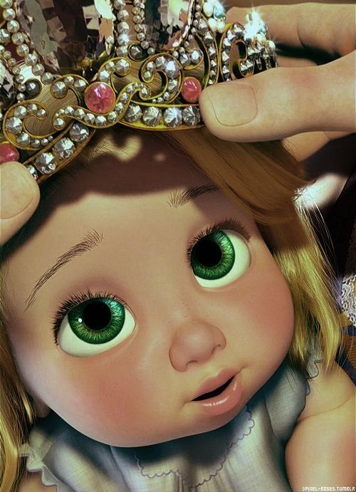 Tangled! Baby rapunzel. she is the cutest little thing. I want her!