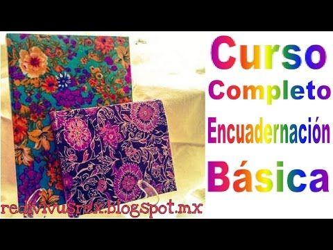 DIY Curso Encuadernación Básica / costura francesa / costura a palmos /cómo hacer libreta casera - YouTube