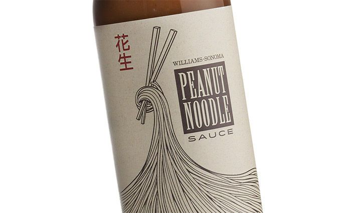 The Williams-Sonoma Peanut Noodle Sauce Goes for a Different Look #packaging trendhunter.com