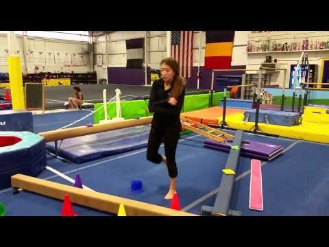 Gymsport Preschool Beam Circuit (week 2) - YouTube