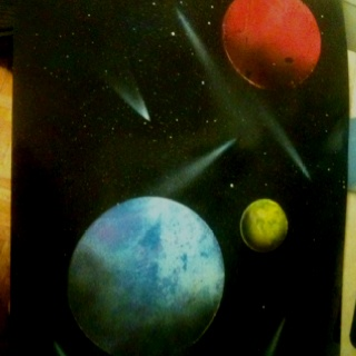 My Spray paint art.