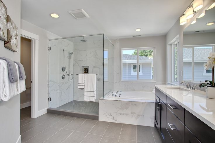 Contemporary Master Bathroom With Daltile Volume 1 0