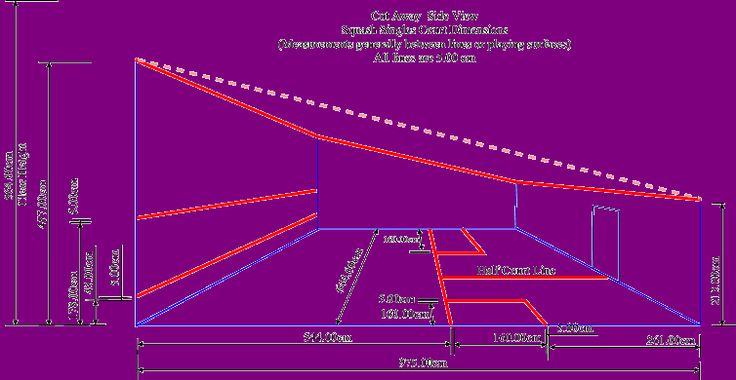 Squash court dimensions sports centre design pinterest for Sport court dimensions