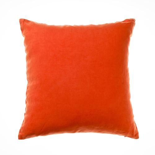 Home Republic Vintage Washed Linen Poppy - Soft Furnishings Cushions - Adairs online