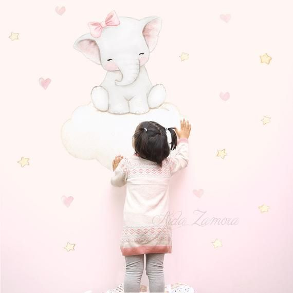 Tissu En Vinyle Pour Enfants Elefantita En Nube Vinyle Pour