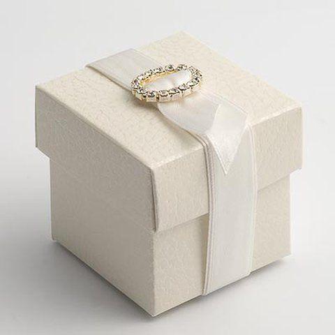 Gastgeschenk Hochzeit Antique Pelle weiß- edel -Box, 0,89 €