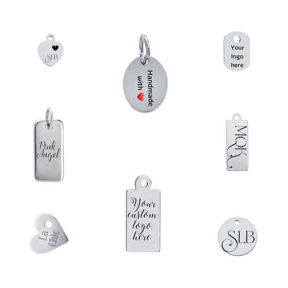 4 Word Charms Quote Pendants Ocean Nautical Weathered Antiqued Silver