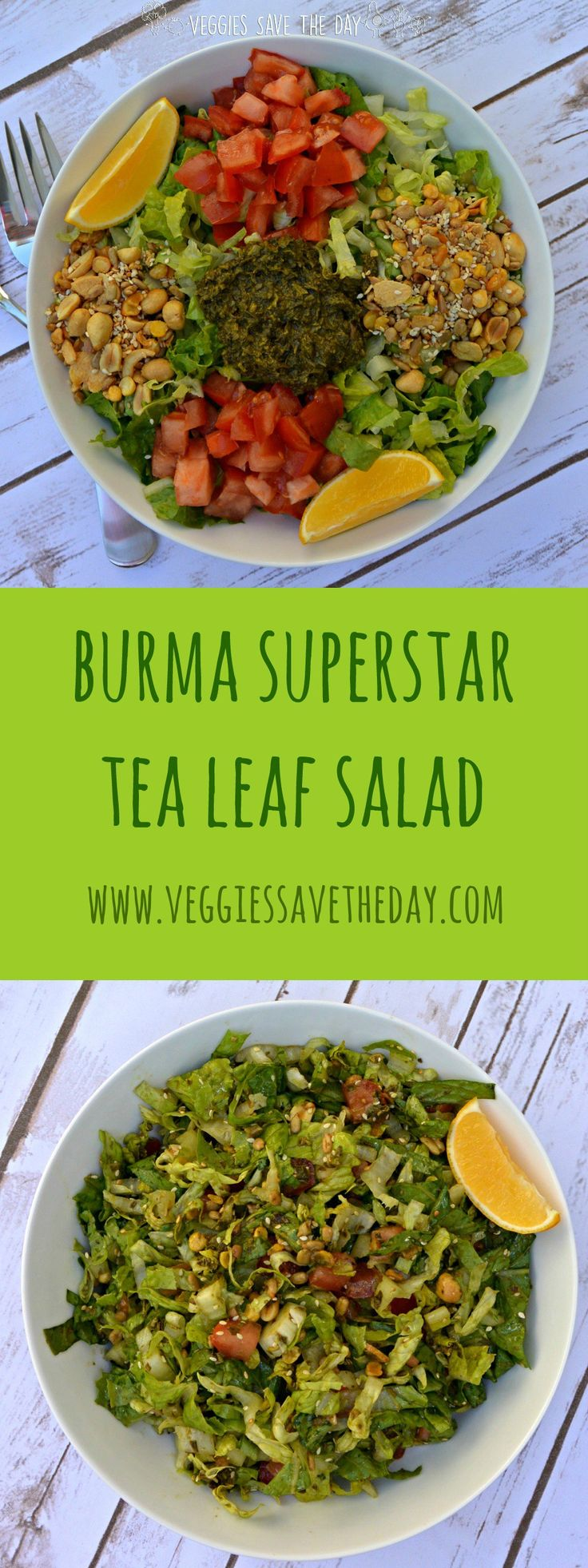 Now you can make the famous Tea Leaf Salad from Burma Superstar at home, thanks to their easy Burma Love Laphet Fermented Tea Leaf Salad Mix. . Get this recipe and more like this when you visit www.veggiessavetheday.com, or pin and save for later!