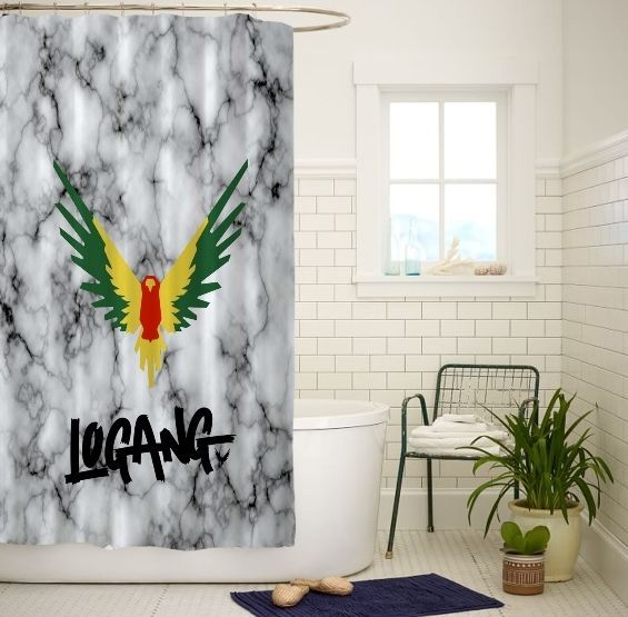 Maverick Logan Paul High Quality Custom Shower Curtain Size 60x72 and 66x72 Inch #Unbranded