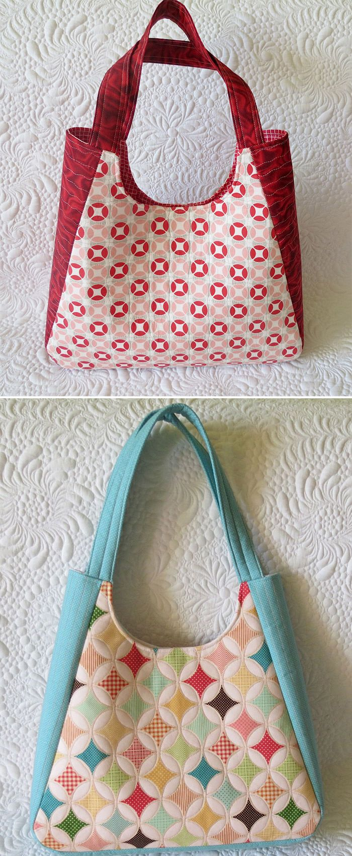 9046719f0b7 Tote bag pattern for roomy bags with zippered pocket on the back ( three  sizes are included) - this is the medium- everyday bag.