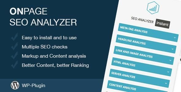 On-Page SEO Analyzer for Wordpress