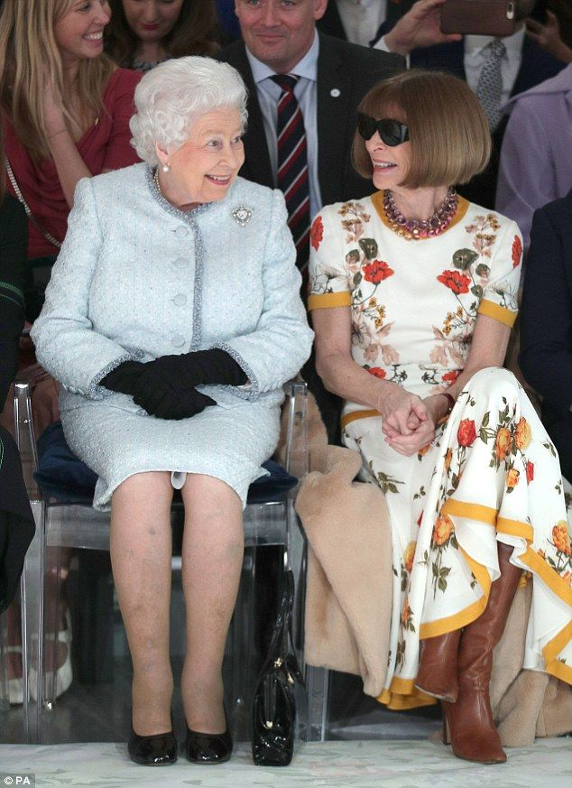 Anna Wintour was spotted next to Queen Elizabeth II in a move that stunned and upset many people in the fashion world