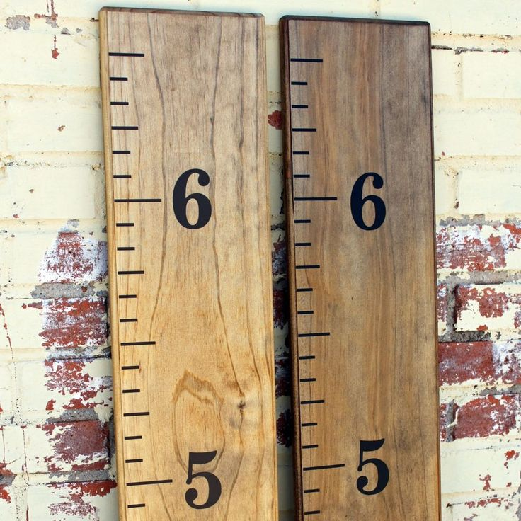 Details about DIY Vinyl Growth Chart Ruler Decal Kit