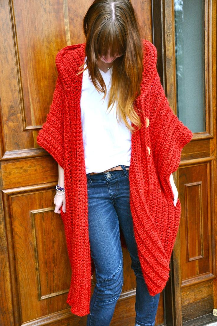 CROCHET PATTERN for The Hooded Poncho via Etsy.      ♪ ♪ ... #inspiration #crochet  #knit #diy GB  http://www.pinterest.com/gigibrazil/boards/