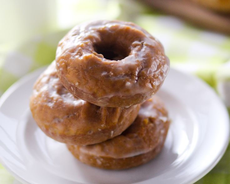 Baked Glazed Pumpkin Donuts (Really yummy! I only made 6 of them in my donut pan and the rest I put into a mini muffin pan, and got 24 little muffins! These are good, I would make them again!)